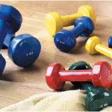 Aerobic and dance-dumbbells with PVC-cover 24499
