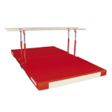 Compact parallel bars with custom folding mat