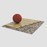 Sports parquet floor Ortles