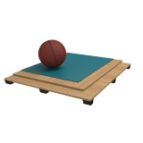 Sports parquet floor Rubber
