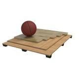 Sports parquet floor Solid