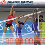 Refereeing and timing systems for volleyball