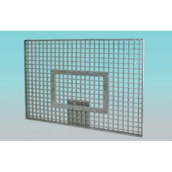 Basketball back boards of steel grating