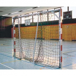 Handball goals transportable, with folding net hoops 2056