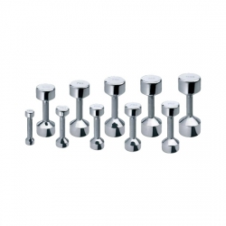 Aerobic dumbbells chrome 225