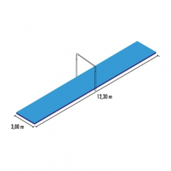 Clamped horizontal bar mat set