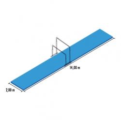 Uneven bar mat set