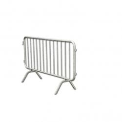 Tubular galvanized steel barrier S07682