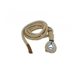 Climbing hemp rope