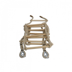 Hemp rope ladder S00788