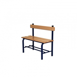 Locker room bench with backrest S07308