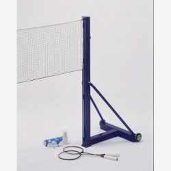 Pair of freestanding badminton posts mobile S04940