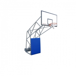 Olympic basketball backstops with ballast box S04026