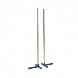 Pair of practice high jump stands S02552