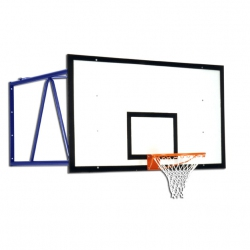 Wall mounted basketball backstops S04058