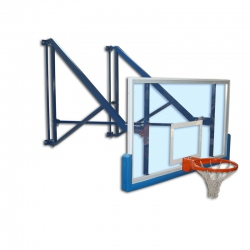 Wall mounted side folding basketball backstops S04060