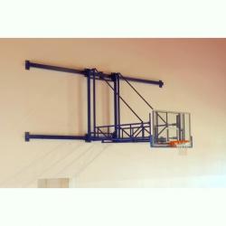 Wall mounted side folding basketball backstops S04064
