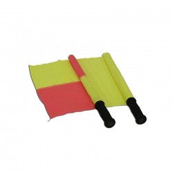 Linesmans flag with plastic handle S04456