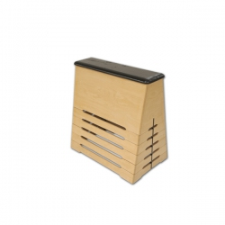 Trapezoidal wooden vaulting box S00958