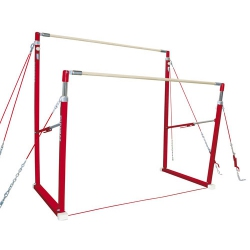 Training asymmetric bars with short cable system