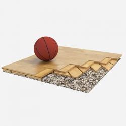Sports parquet floor Tirano