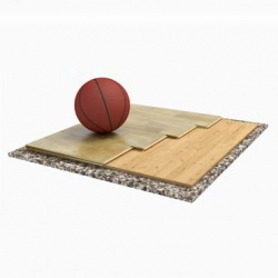 Sports parquet floor Trento Solid