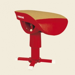 Adjustable angle central leg vaulting table - FIG approved