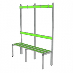 Bench with backrest and coat-hanger PAG